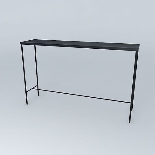 the 130cm console edison maisons du monde 3d model max obj. Black Bedroom Furniture Sets. Home Design Ideas