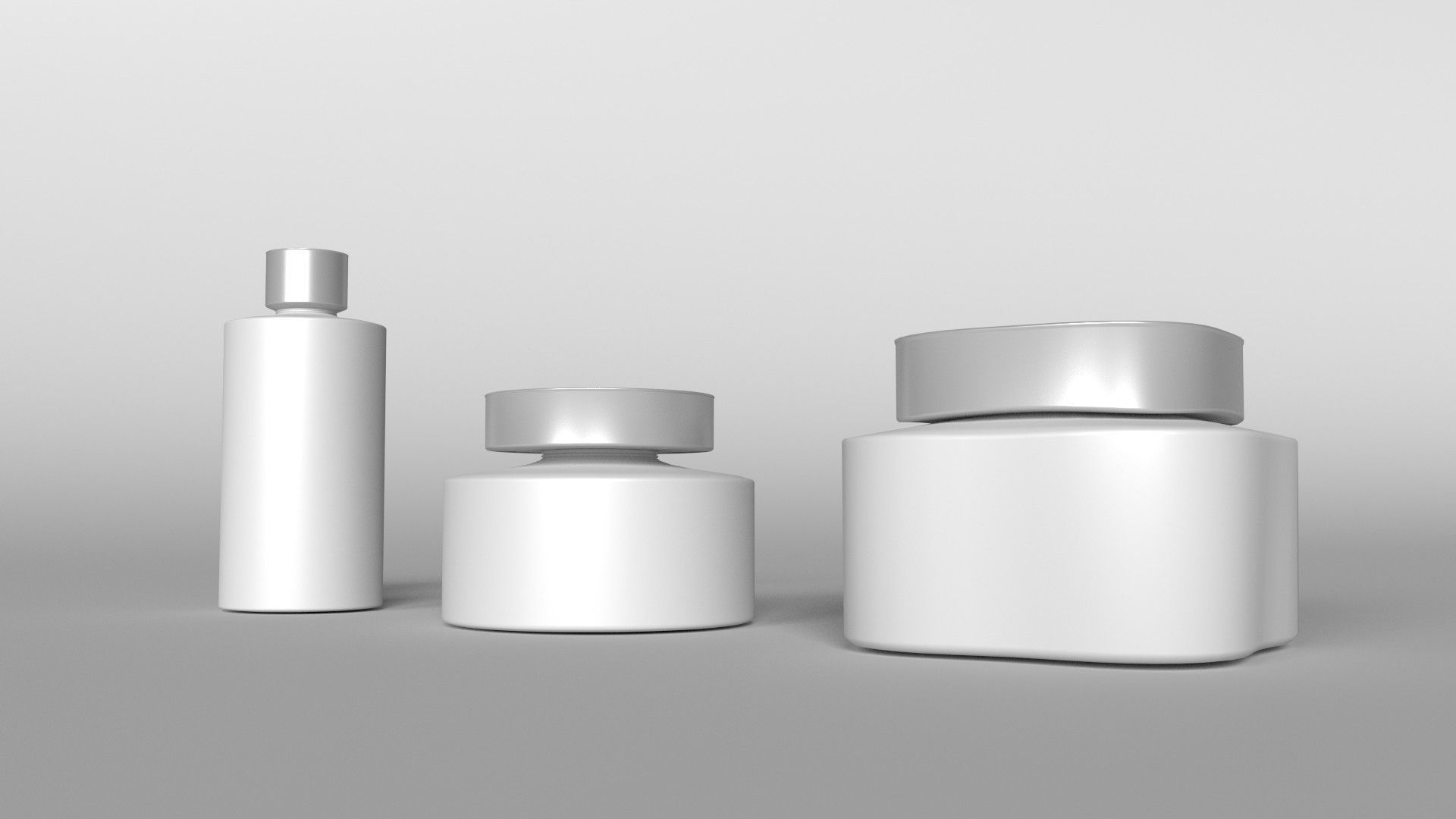 Bathroom container set 3d model obj 3ds fbx for Bathroom containers