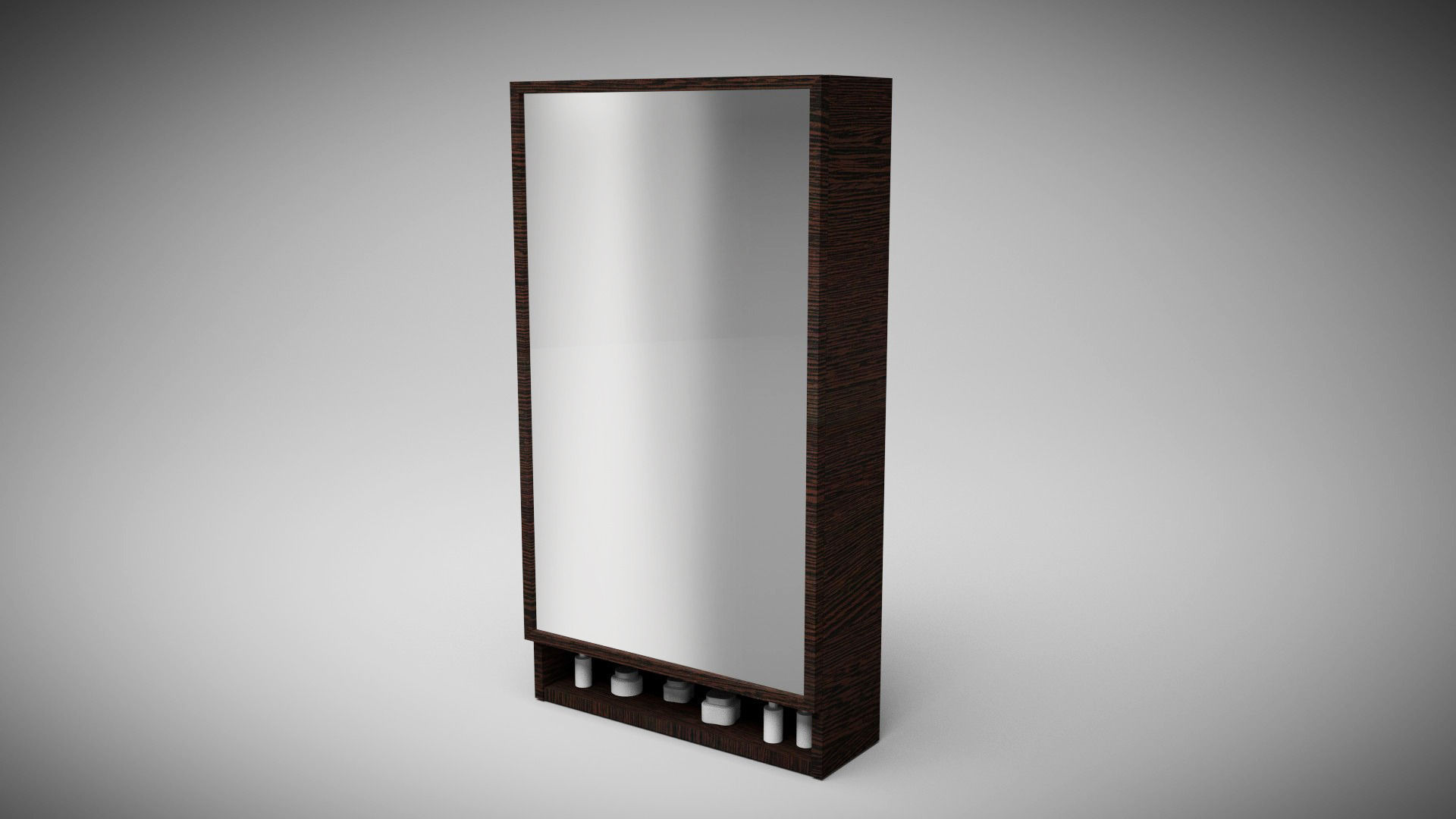 Bathroom Wall Cabinet Low Poly 3D asset