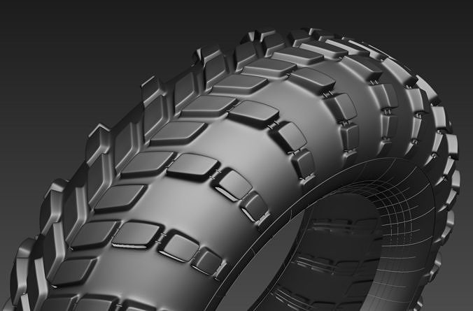 High poly tyre