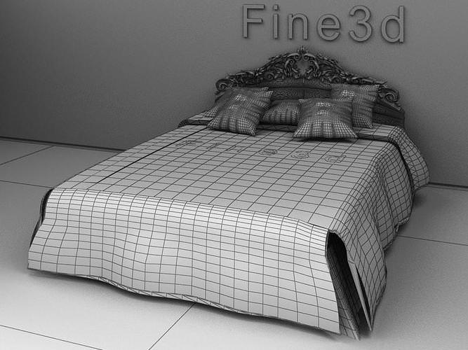 Victorian age bed collection 3d model max obj 3ds for 3ds max bed model
