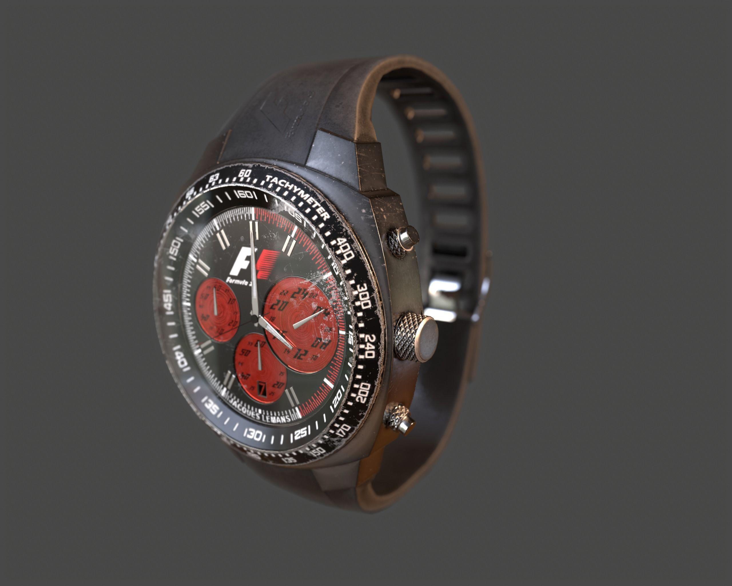 Wristwatch - Dirty Old watch PBR Game Ready