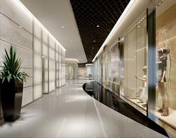 3D model Hall in shopping center