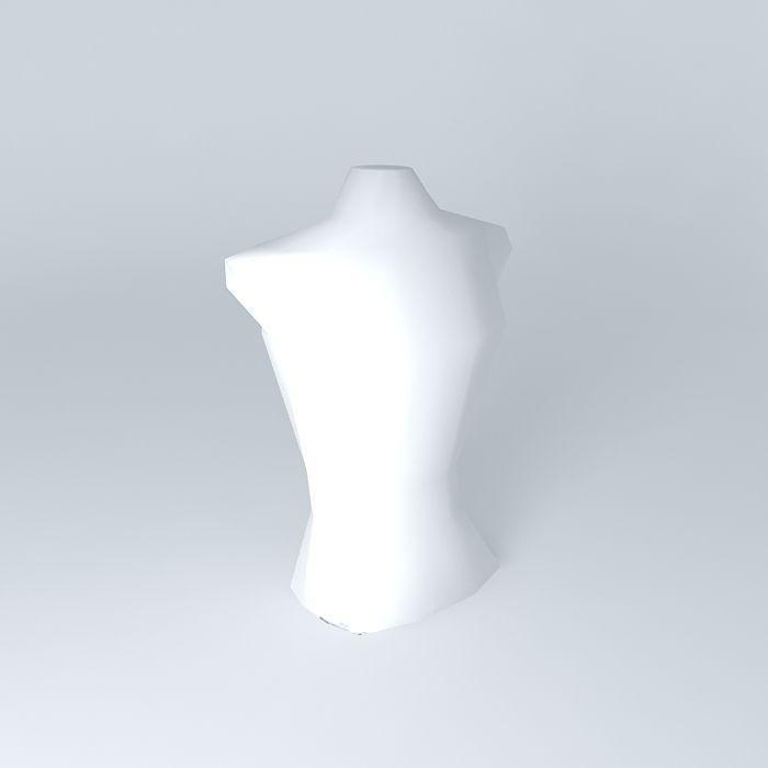 Free 3d models bust waist - 5