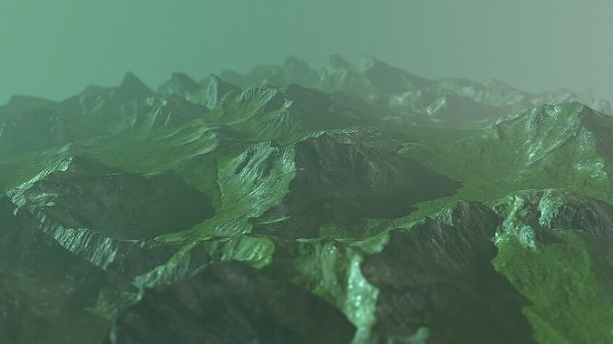 Rock Terrain with Grass