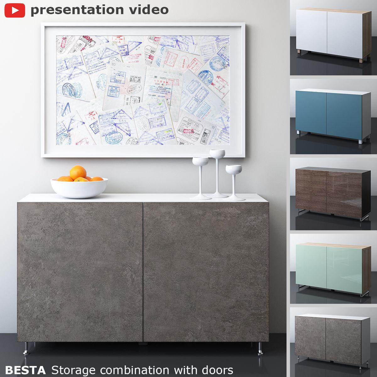 BESTA Storage combination with two doors