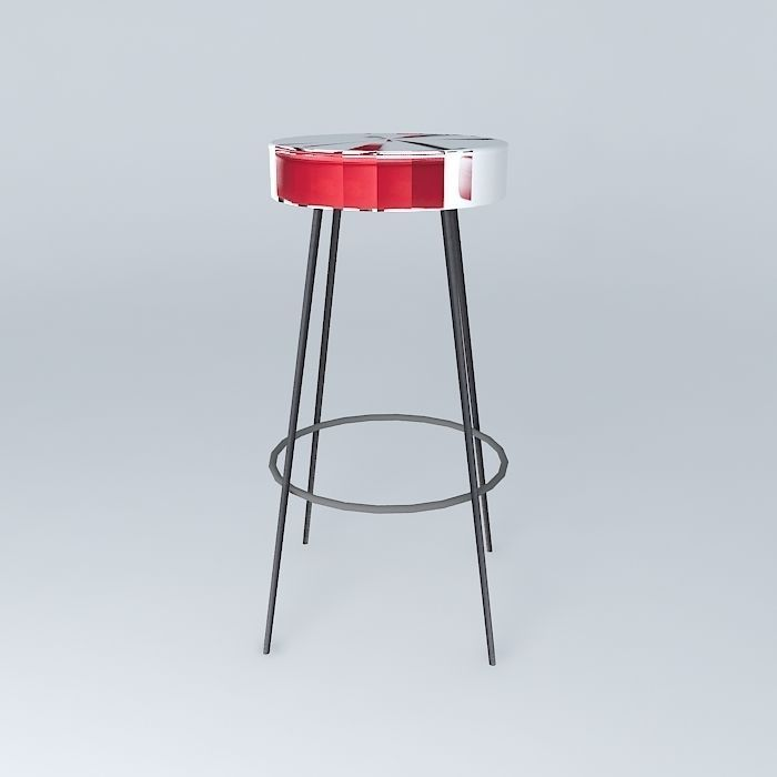 Bar Stool Blue Caps Houses The World 3d Model Max Obj