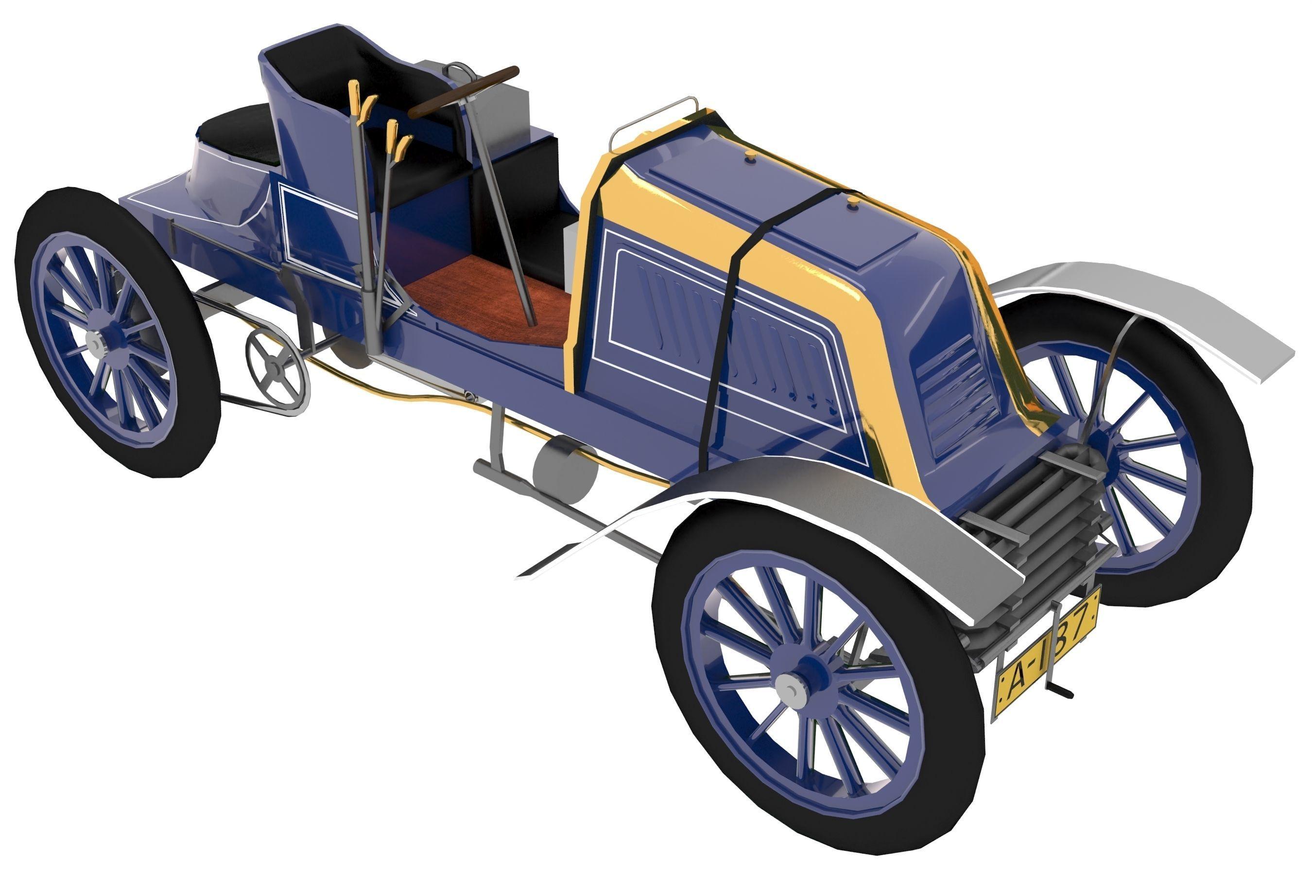 1902 Mors Type Z | 3D model