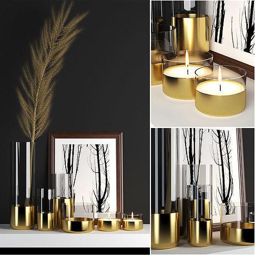 golden decor set