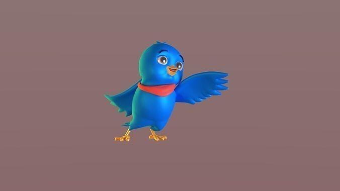 Cartoon Bandana Bird