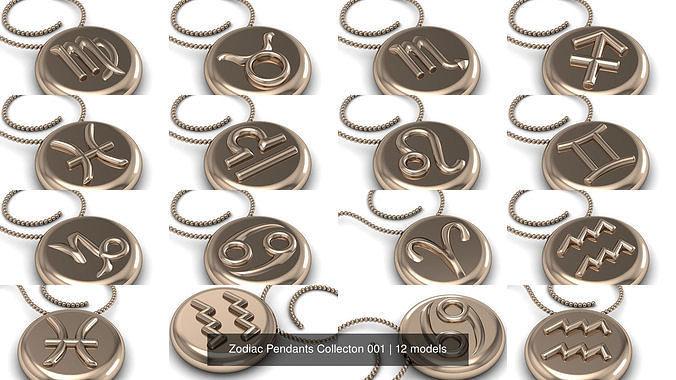 Zodiac Pendants Collecton 001