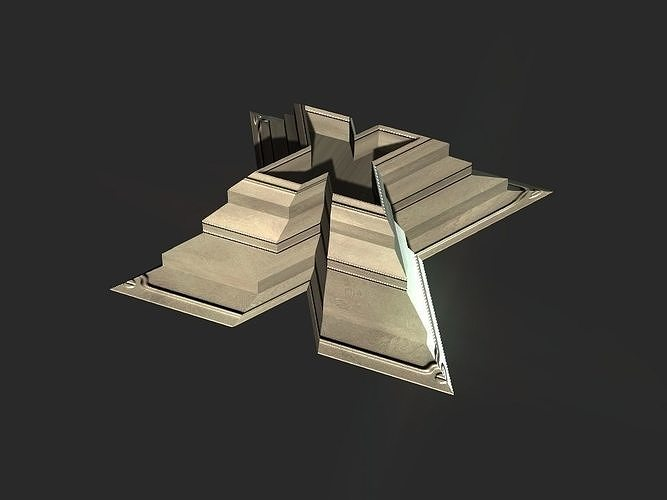 X block hollowed pyramid