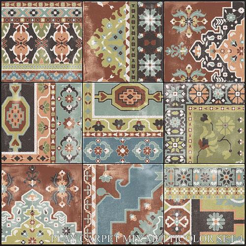 ABK Play Carpet Mix Multicolor Set 4