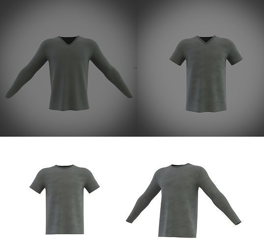 4 different t-shirts collection