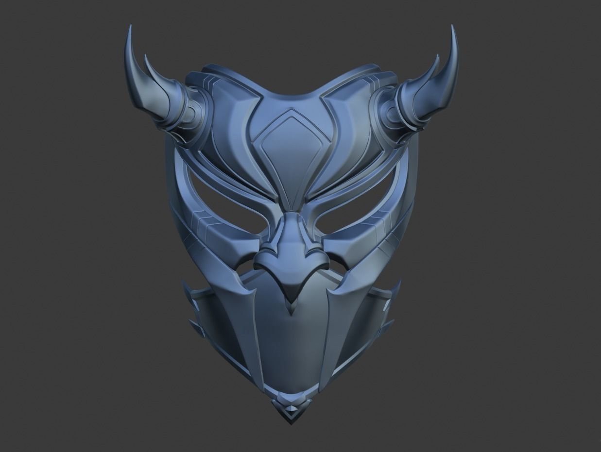 3d Print Model Princess Kitana Samurai Mask For Face 3