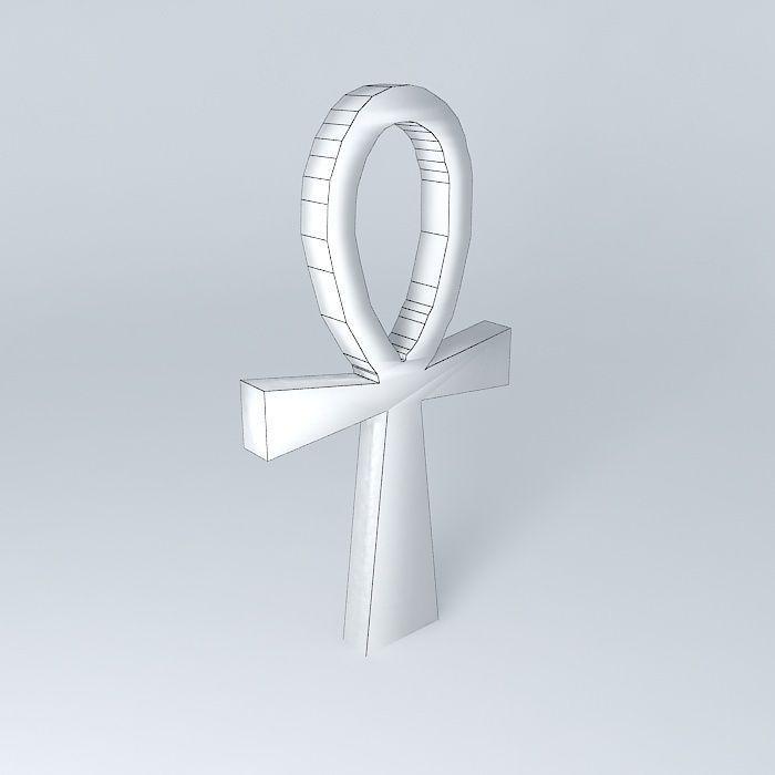 Ankh Egyptian Religious Symbol 3d Model Cgtrader