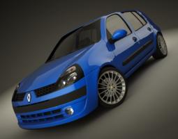 Renault Clio 2004 Sport 3D Model