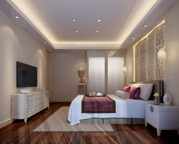 3d Small Hotel Bed Room Cgtrader