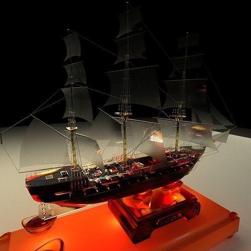 Chinese sail boat