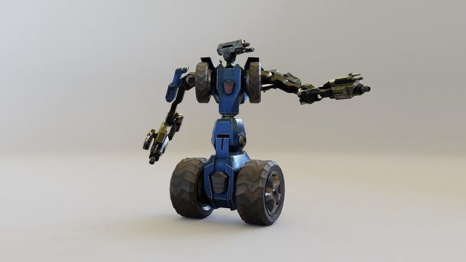 Science fiction Robot Fighter and Destroyer Animated