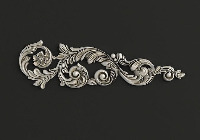 Carved decor 3D