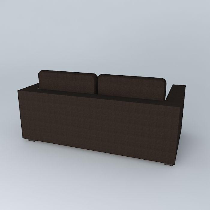 Sofa milano anthracite houses the world 3d model max obj 3ds fbx stl skp - Sofa antraciet ...