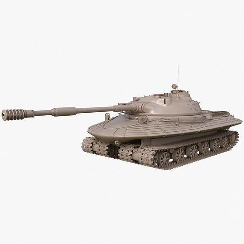 Tank Object 279 Soviet Clay Mental Ray