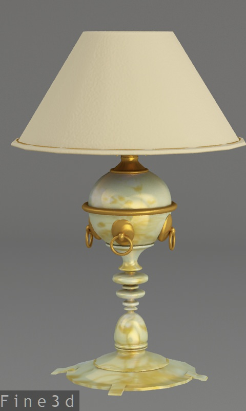 Antique table lamp collection 3d model max obj 3ds for Table lamp 3ds max tutorial