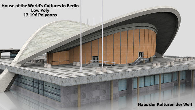 House of the Worlds Cultures in Berlin 3D Model