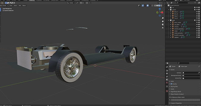 Chasis for classic car modeling