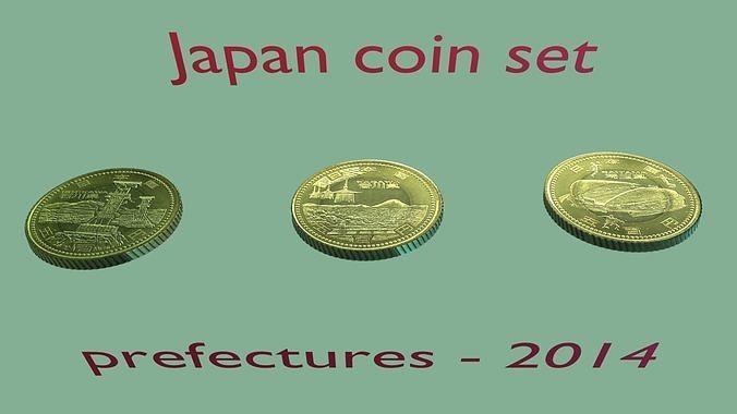 2014 Japanese prefectures coin - set