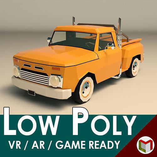 Low Poly Vintage Pickup 03