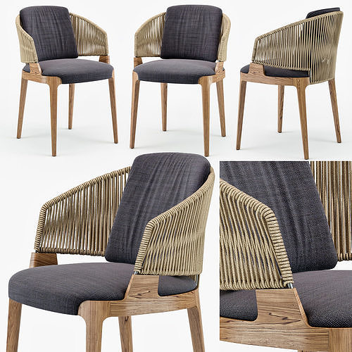 Potocco Velis hand weaved armchair
