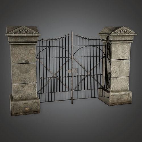 GFS - Outdoor Gate 15 - PBR Game Ready