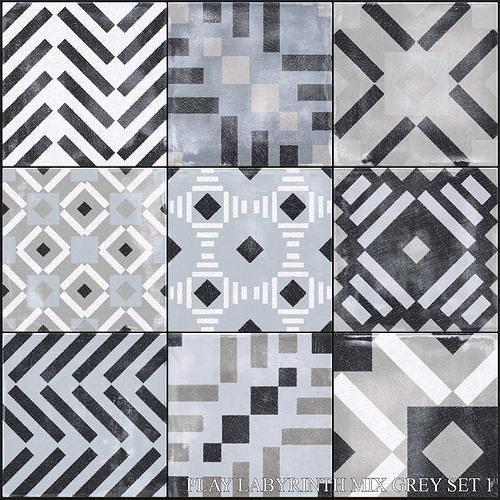ABK Play Labyrinth Mix Grey Set 1