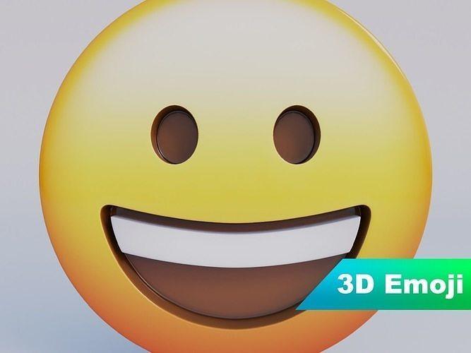Grinning Face 3D Emoji