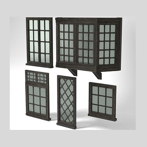 Medieval Windows Set of Five