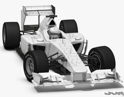 generic f1 2012 race car 3d model