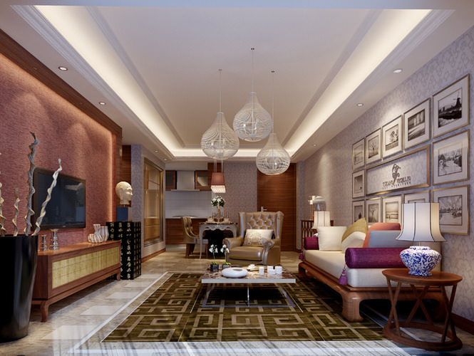 Exclusive living room 3d model max for Living models