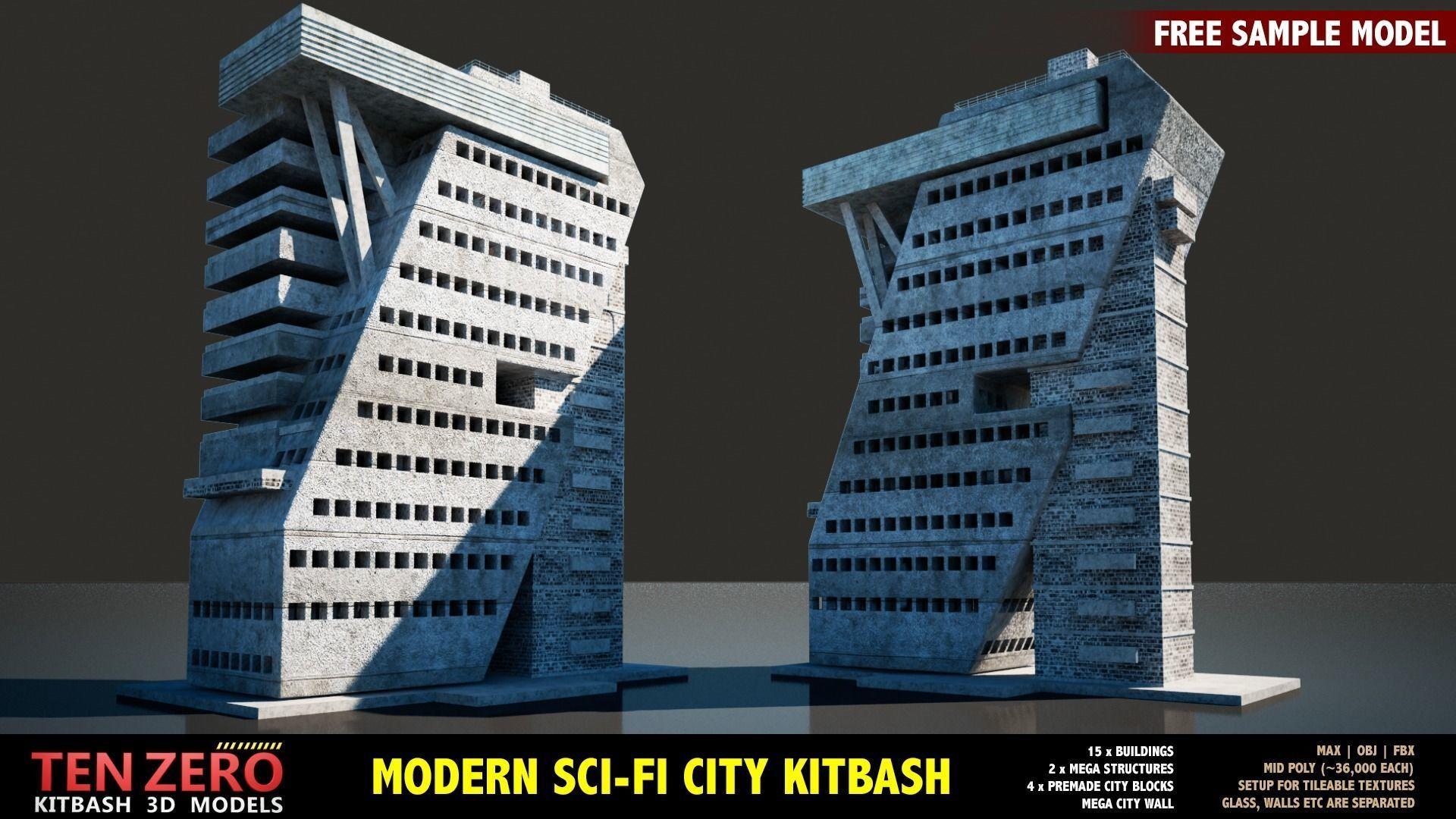 FREE MODERN SCI-FI BUILDING