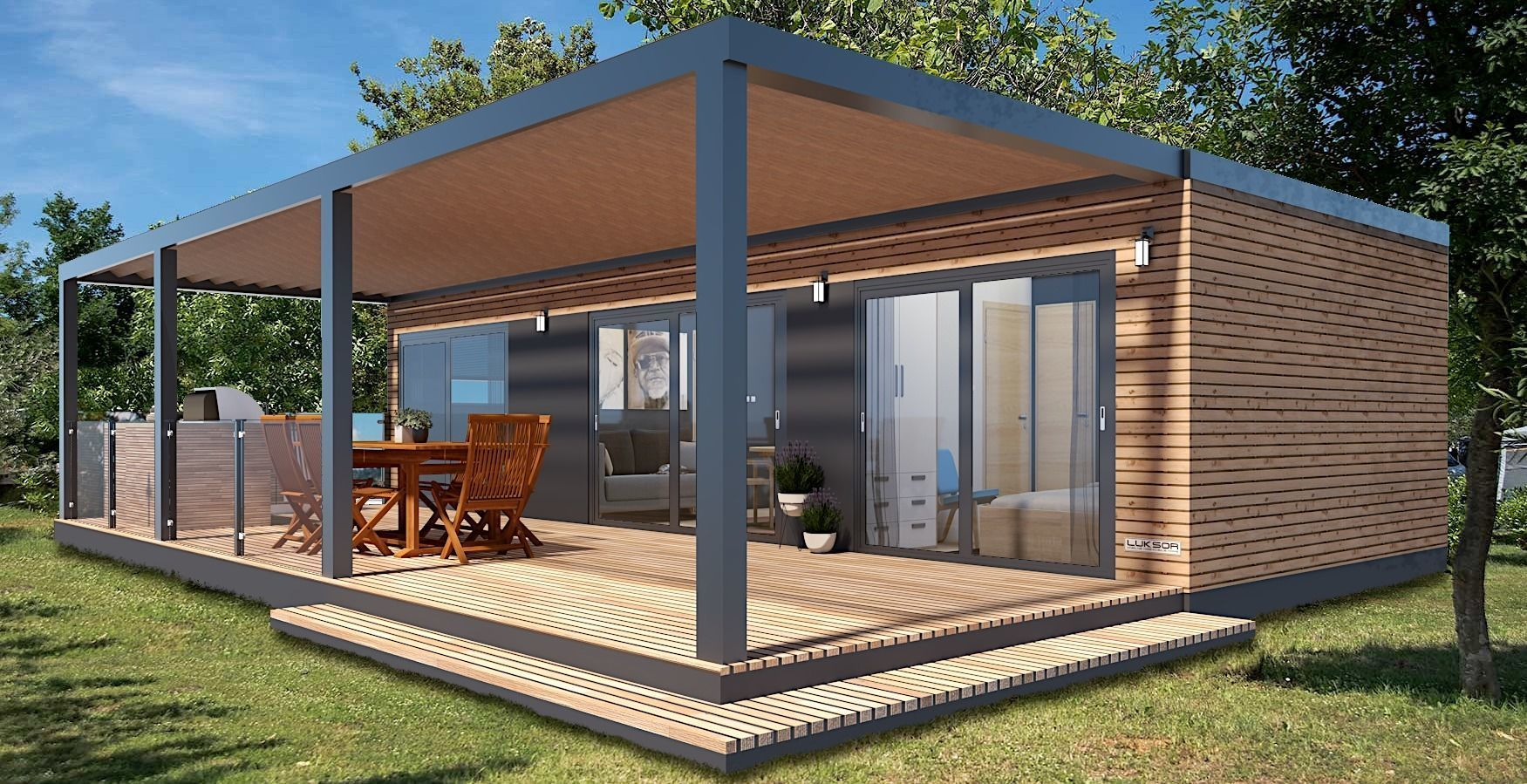 mobile home tiny house vacation house on 40m2 3dmodel