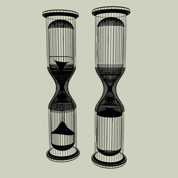 Hourglass glass 3D Model .max .obj- CGTrader.com