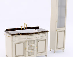 eurodesign luigi xvi bathroom set 3d model