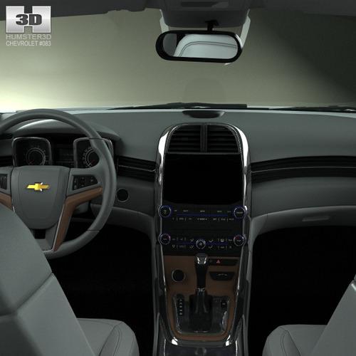 Chevrolet Malibu With Hq Interior 2013 3d Model Max Obj 3ds Fbx C4d Lwo Lw  Lws