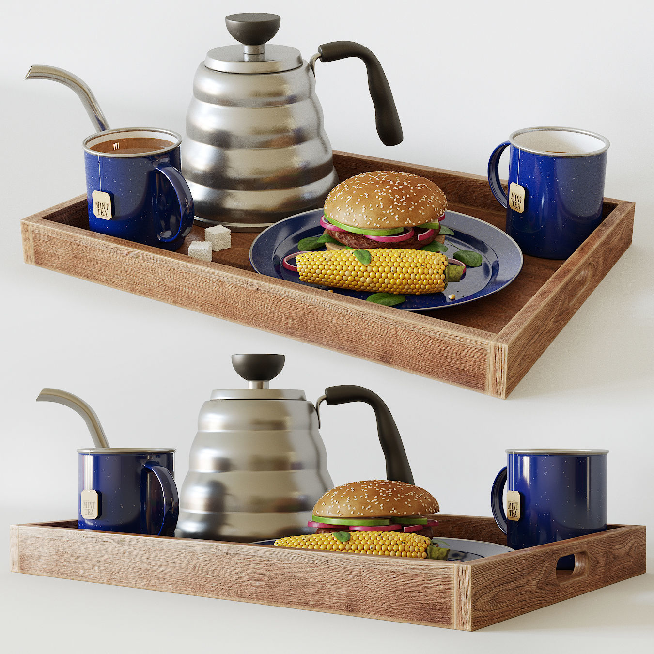 Breakfast decorative set