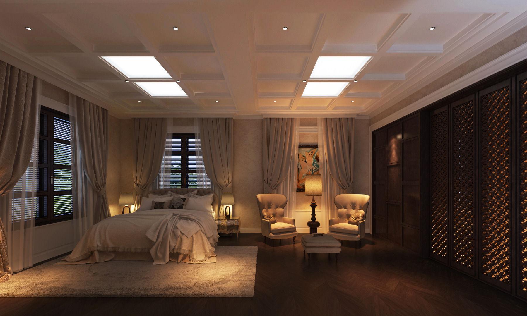 ... Classic Bedroom Cg 3d Model Max Fbx 2