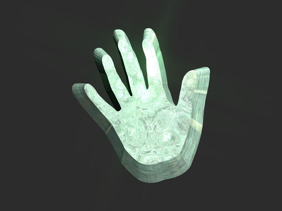 Hand 3d 2d shape