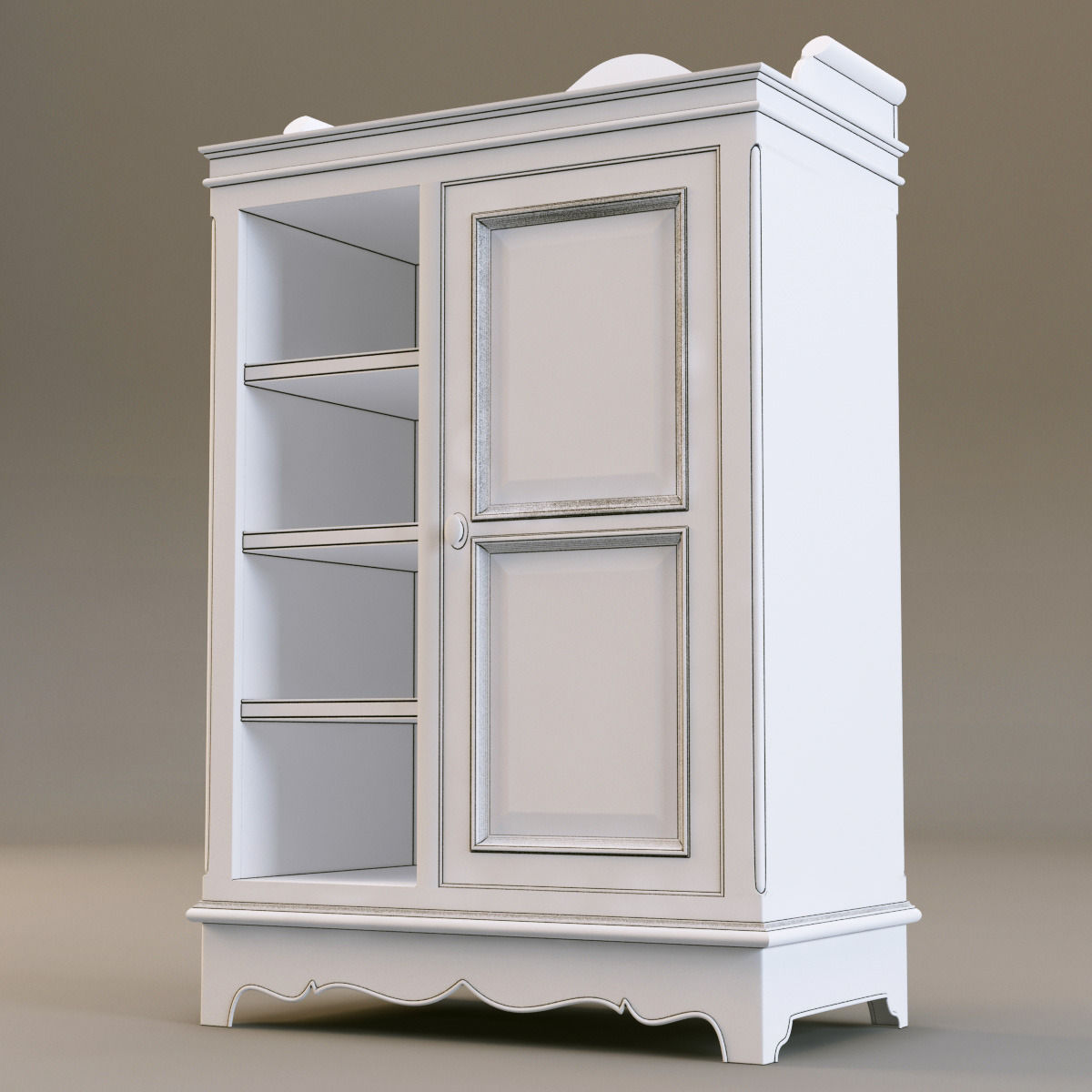 Cupboard Models : country corner PBAB 1door cupboard 3D Model .max .obj .3ds .fbx ...