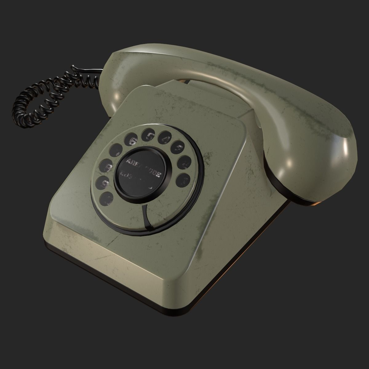 Retro Rotary Phone PBR   3D model