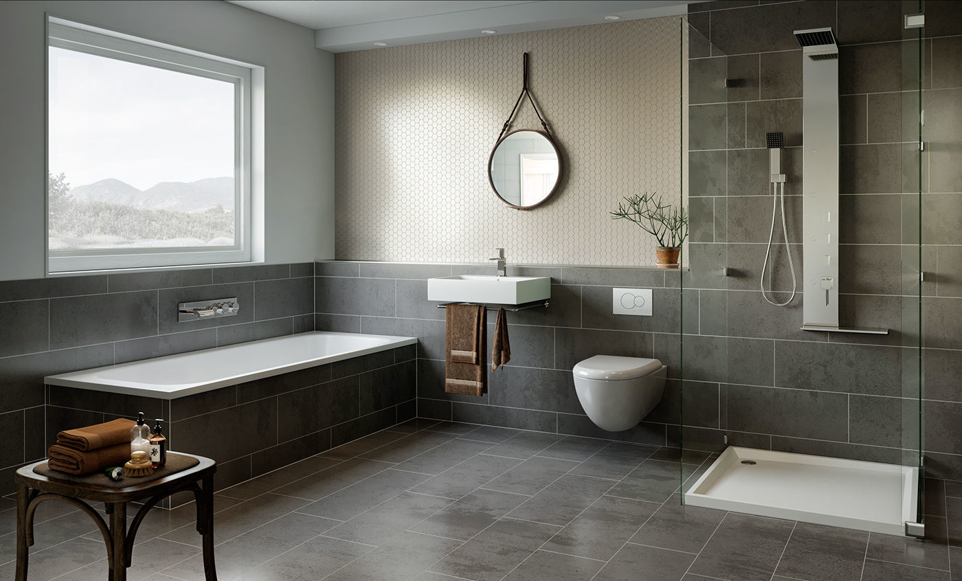 3D model Scandinavian Bathroom Design | CGTrader on Model Toilet Design  id=29199